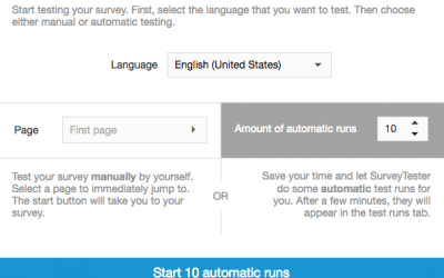 Sit Back and Relax with Automated Survey Testing