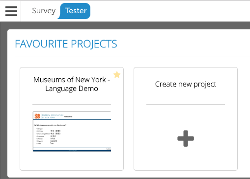Your First SurveyTester Project